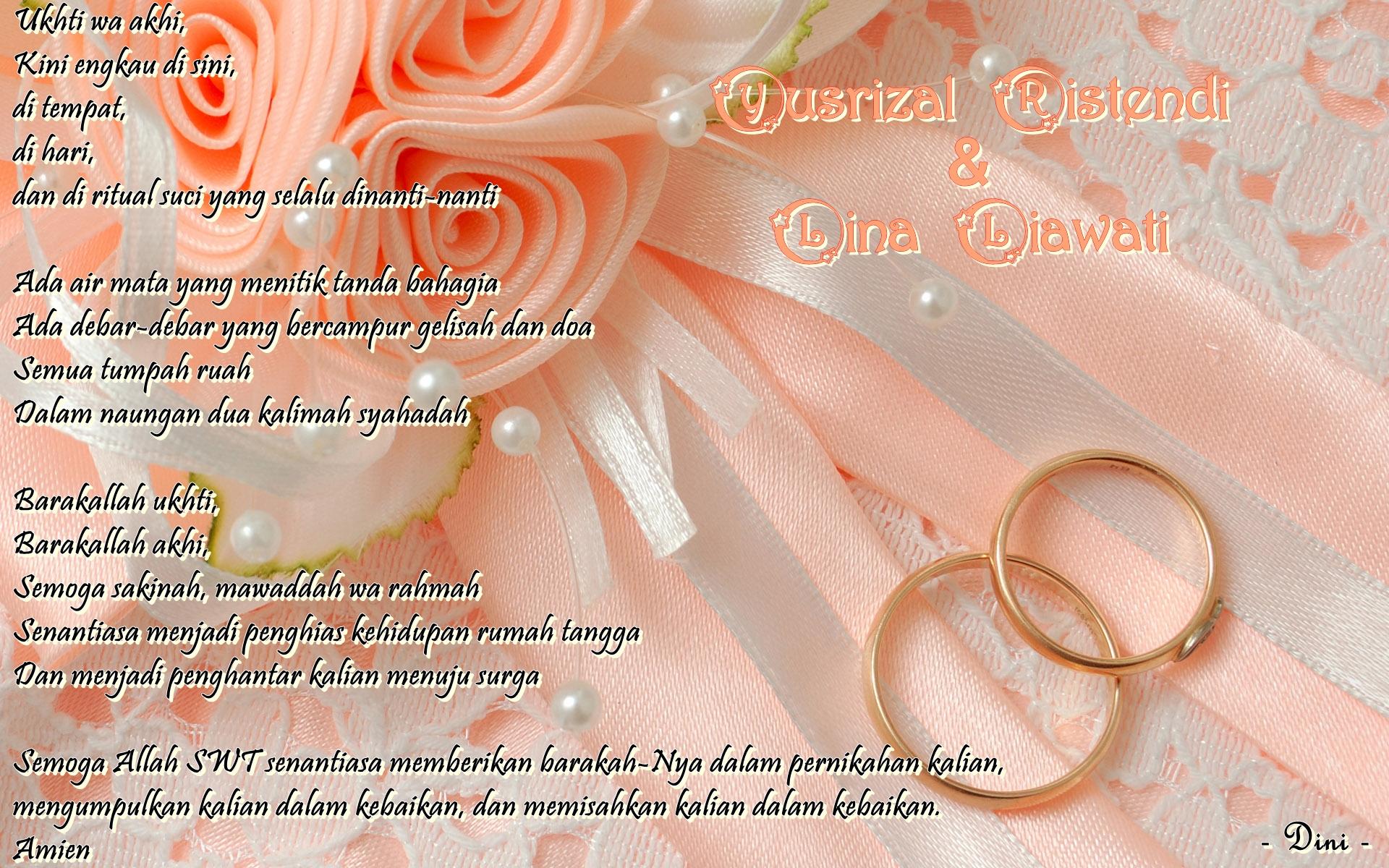 Kartu Ucapan Pernikahan Islami Empatseptember